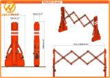 Mlutiゲートの赤い交通安全の拡張可能プラスチックトラフィックの障壁