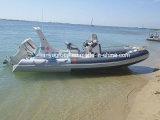 Liya 20pieds nervure gonflable bateaux gonflables rigide de bateaux de pêche