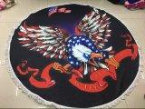 Штаты Америки счастливого Нового Года на пляже полотенце флаг и игл