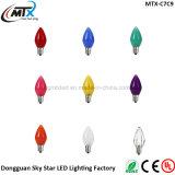 Luz de la Navidad brumosa multicolora de la lámpara de la vela de E12 E17