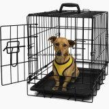 Caisse de chien pliable en métal