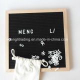 ブナの森の黒の白人およびプラスチック文字のNonwovenのフェルトの文字のボード