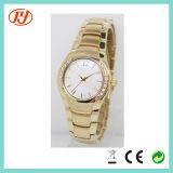 Horloge van de Dames van de Vrouwen van de Steelband van de Diamant van de Reeksen van de Juwelen van de kwaliteit het Gouden