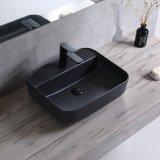Санитарные продовольственный матовый черный цвет керамической ванной раковину (C1194A)