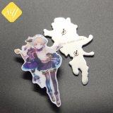 Impressão impresso OEM Cartoon Boy Kids Cosplay Monograma Pin de lapela Maker