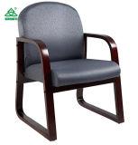 主任のオフィス製品マホガニーフレームファブリック肘のない小椅子