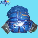 OEMのアフリカのための通気性の経済的な使い捨て可能で眠いジーンズの赤ん坊のおむつ