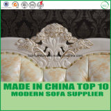 Presidenza sezionale di cuoio italiana del sofà della mobilia di legno di lusso classica