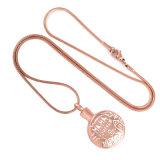 灰Wholsesaleのための金によってめっきされる火葬の宝石類の壷の吊り下げ式のネックレス