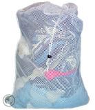 """Piccolo sacchetto di nylon della lavanderia della maglia con il Drawstring, colore: Bianco - formato: 22W """" X 28h """""""
