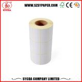 Papel sintético etiqueta de papel térmico de auto-adhesivo
