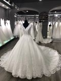 Sposa unica del merletto del manicotto lungo elegante da essere vestito da cerimonia nuziale