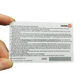 Het Visitekaartje van de Telefoon van de Kras van de Gift van de douane Plastic/PVC met Streepjescode