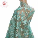 Il ricamo di nylon francese di Fabrice del merletto africano di Tulle progetta il merletto dei fiori