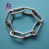 Corrente de ligação média ordinária chapeada zinco do aço suave