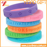 Bracelet promotionnel de silicones de promotion de bracelet de Debossed de mode