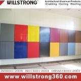 Revestimiento de PVDF Aluminun Panel Compuesto de fachadas arquitectónicas dosel de los paneles de señalización de techo Fachadas ventiladas