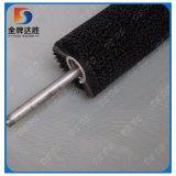 Rolo de aço personalizado fábrica da escova de limpeza do painel do filamento de nylon com eixo