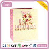 Geburtstag-rosafarbenes Blumen-Kleidungs-Spielzeug-Andenken-Geschenk-Papierbeutel