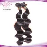 Cabelos Fbl 100% virgem ondas soltas malaio Tecelagem de fio de cabelo da trama