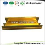 Aluminium extrudé anodisé de grande qualité Profil avec la norme ISO9001