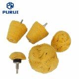 Montagem da roda de polimento de Polimento Muslin amarelo para o polimento final