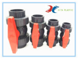 Sfera di plastica del sindacato della valvola a sfera di PVC/UPVC vera doppia