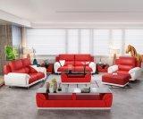 Sofà domestico del cuoio della mobilia del salone di svago con l'ottomano