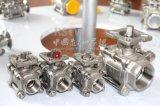 Filetage femelle en acier inoxydable haute manuel de la plate-forme 3PC Clapet à bille