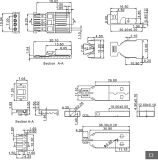 4 stuk Vastgestelde USB 2.0 een Schakelaar van het Type van Soldeersel