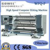 Высокая скорость компьютера ломтики перематыватель машины для BOPP (WFQ-F)