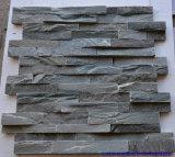 포장하거나 마루청을 깔거나 벽 또는 클래딩 또는 정원을%s 자연적인 녹슬 회색 또는 까만 문화적인 돌 Slatetile