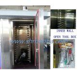 Línea de productos de Bakeri, cadena de producción de la panadería horno rotatorio de la hornada, horno del estante