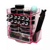 De moderne Roterende AcrylHouder van de Borstel van de Organisator van de Make-up van de Lippenstift