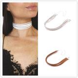 女性のための1つの部分のビロードのチョークバルブのネックレスのゴシック様式伸張の入れ墨のチョークバルブの伸縮性があるふさの吊り下げ式のネックレス
