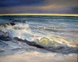 海の眺めの油絵