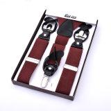 Кнопка из натуральной кожи отверстие эластичные лямке Man Suspenders дамы ортодонтических скоб (RS-17021D)