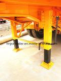 Conteneur de fin de remorques de camion à benne, benne hydraulique semi-remorque, remorques de vidage de basculement