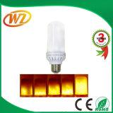 Bulbo que oscila de múltiples funciones del LED, emulación viva de la llama/modo de iluminación de respiración/general, color verdadero del fuego