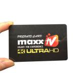 標準サイズのQrコードプラスチックカードかバーコードのプラスチックカード
