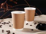Caliente disponible con las tazas de papel impresas de un sólo recinto modificadas para requisitos particulares tapa