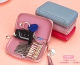 가죽 키는 중요한 케이스 키 홀더 지갑을 자루에 넣는다