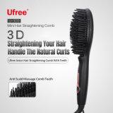 Le redressage rapide électrique Mini-brosse à cheveux Peigne démêlant Portable automatique