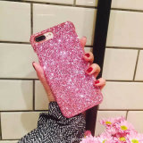 BlingのきらめきのIPhone 7/Plus/6/6s/8 Plus/Xのための輝いたフラッシュ粉の電話箱カバー