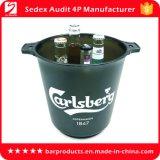 5L de capacidade do balde de gelo de plástico com logotipo para vinho