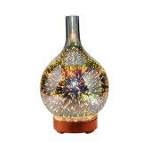 Olio essenziale dell'umidificatore 3D dell'aroma del diffusore di legno di vetro di vetro del diffusore