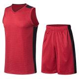 男子バスケットボールの均一袖なしのスポーツの摩耗乾燥した適合のバスケットボールジャージー