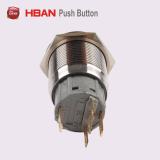 反破壊者の金属のLEDによって照らされる押しボタンスイッチ
