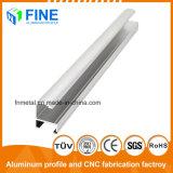 Cepillo plateado brillante de aluminio anodizado de perfiles de aluminio extruido en China
