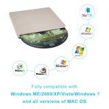 Giocatore del bruciatore dell'azionamento CD di External DVD del USB per Laptop/PC/Mac (oro)